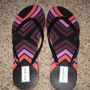 Colorful Kate Spade flip flops. Size 7.5